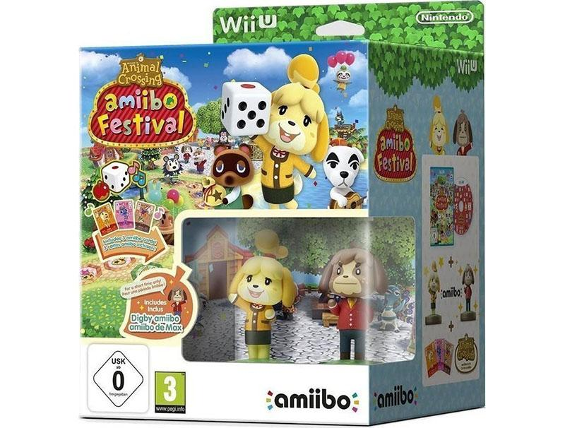 Game Animal Crossing Amiibo Festival+2 Amiibo+3 Cards Wii U gaming   games