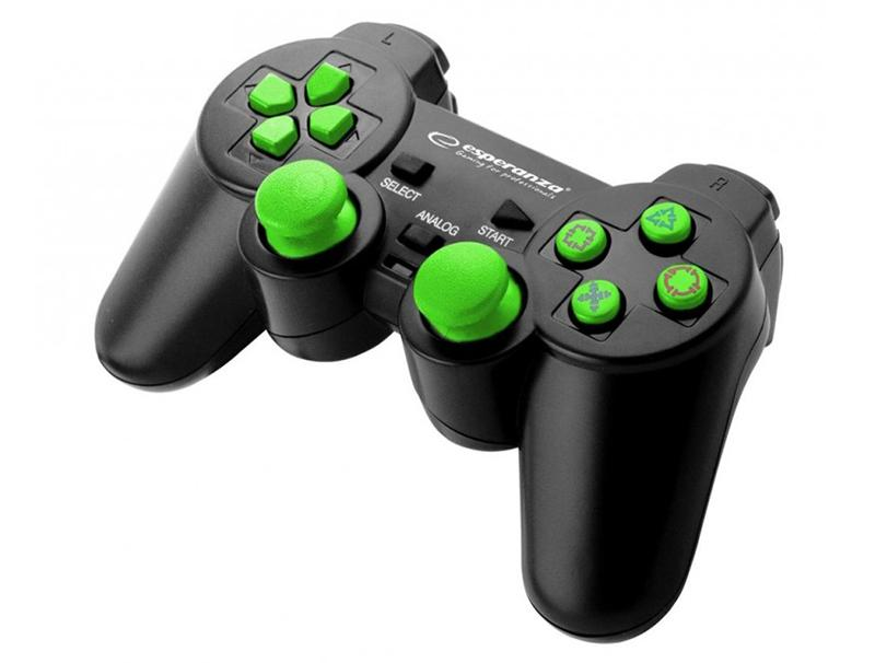 Gamepad Esperanza Corsair EGG106G wired green buttons PC/PS3 gaming   gaming accessories   χειριστήρια