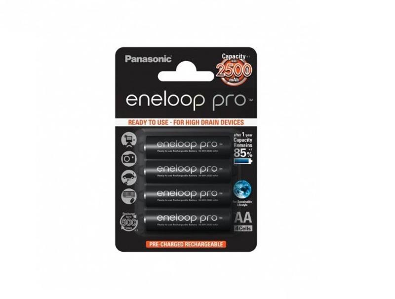 Μπαταρίες Επαναφορτιζόμενες Panasonic Eneloop pro AA 2500mAh 4pcs Blister διάφορα   αξεσουάρ   μπαταρίες φορτιστές