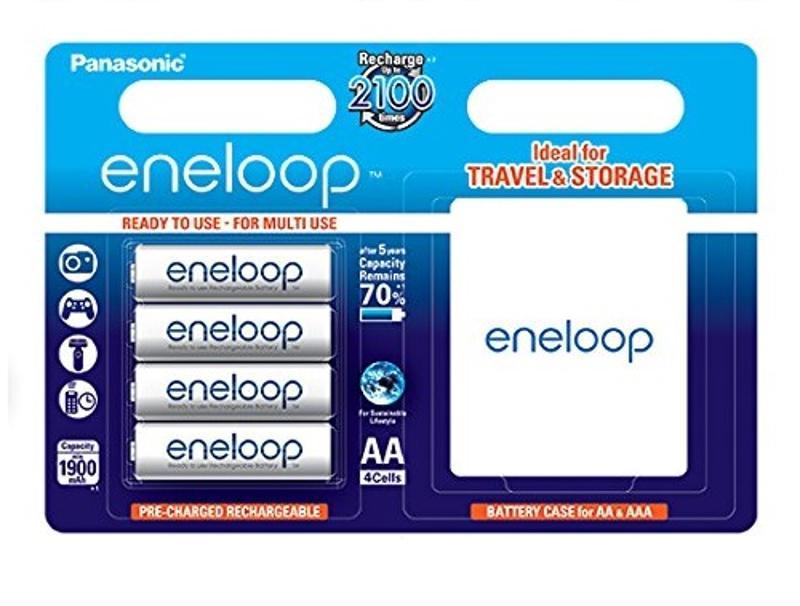 Μπαταρίες Επαναφορτιζόμενες Panasonic Eneloop AA 1900mAh 4pcs + Battery Case διάφορα   αξεσουάρ   μπαταρίες φορτιστές