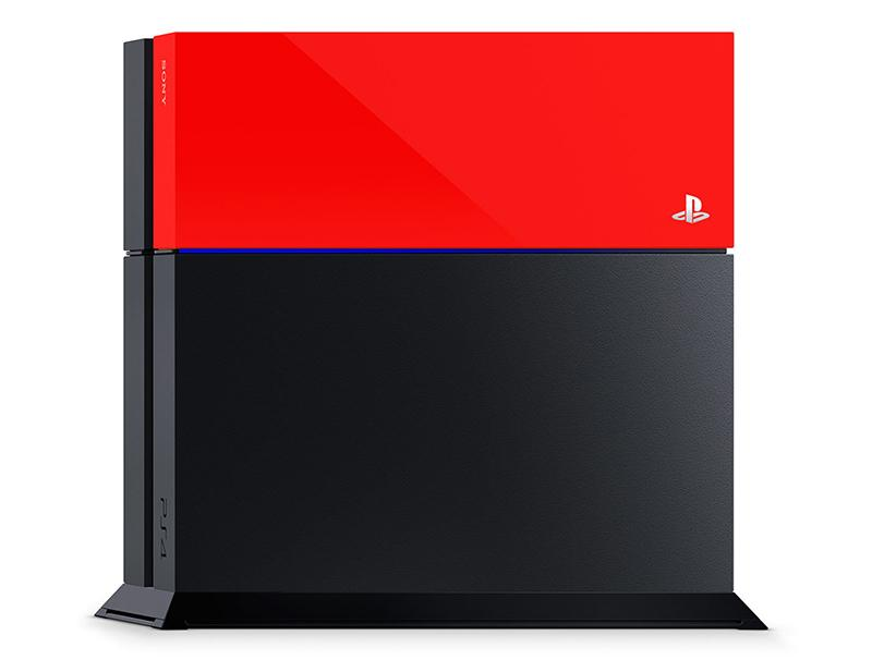 Sony PlayStation 4 Custom Faceplate Red gaming   gaming accessories   διάφορα αξεσουάρ gaming