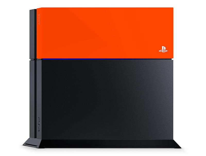 Sony PlayStation 4 Custom Faceplate Orange gaming   gaming accessories   διάφορα αξεσουάρ gaming
