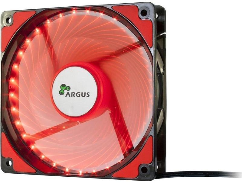 Case Cooler 12cm Argus L-12025 Red computer   αναβάθμιση   ανεμιστηράκια