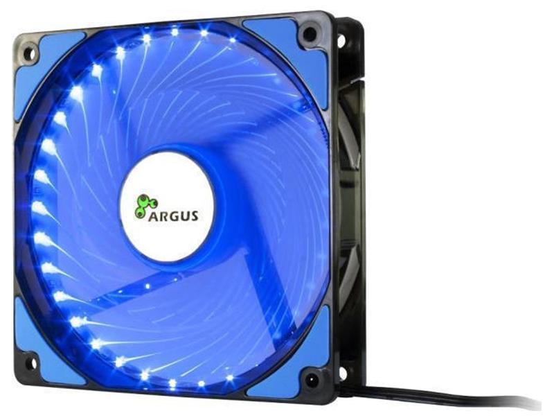 Case Cooler 12cm Argus L-12025 Blue computer   αναβάθμιση   ανεμιστηράκια