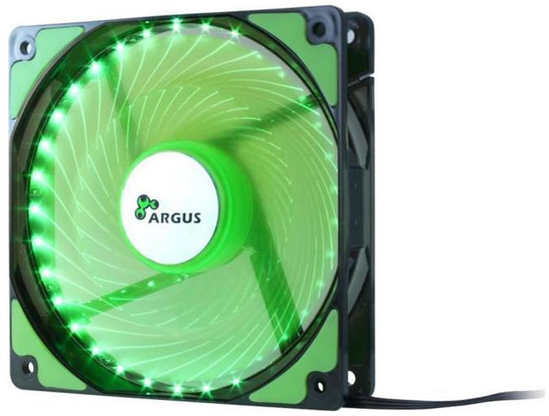 Case Cooler 12cm Argus L-12025 Green computer   αναβάθμιση   ανεμιστηράκια
