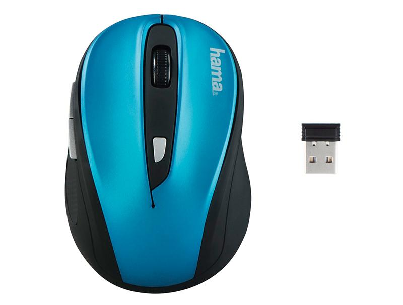 Mouse Hama AM-8200 Wireless Optical black/black blue computer   περιφερειακά   ποντίκια