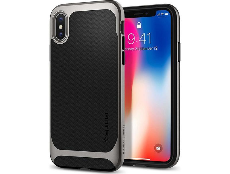 Θήκη Spigen Neo Hybrid Gunmetal iPhone X 057CS22165 τηλεφωνία   αξεσουάρ   θήκες κινητών