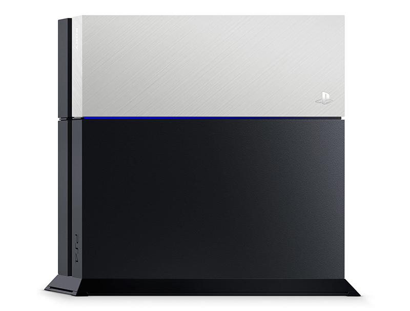 Sony PlayStation 4 Custom Faceplate Silver gaming   gaming accessories   διάφορα αξεσουάρ gaming