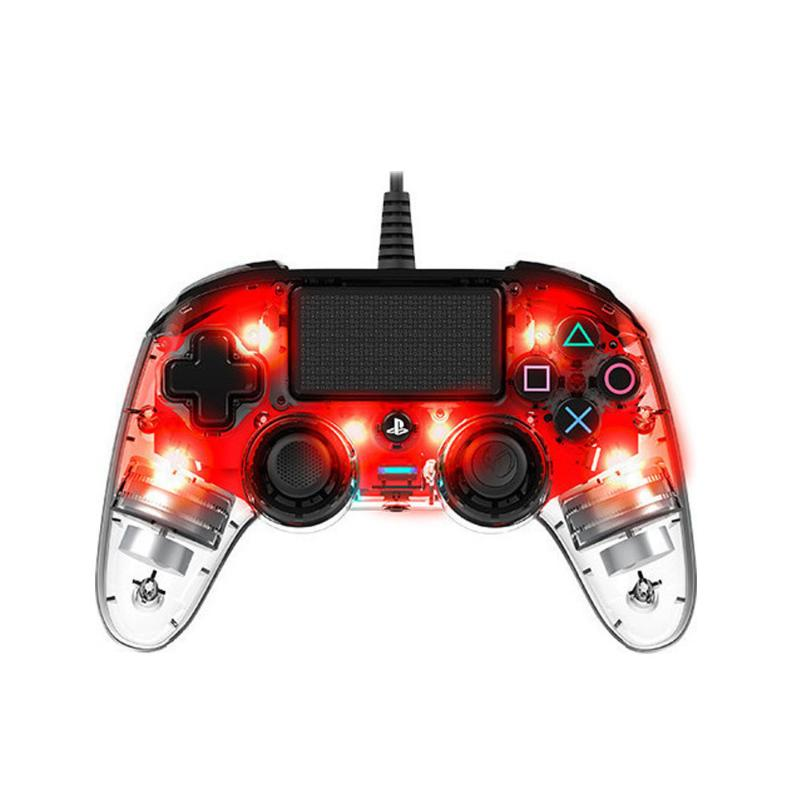 Controller Nacon Wired Compact Crystal Red PS4 gaming   gaming accessories   χειριστήρια