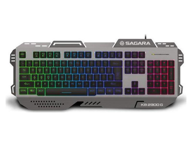 Gaming Keyboard Zeroground KB-2300G SAGARA RGB wired aluminium computer   περιφερειακά   πληκτρολόγια